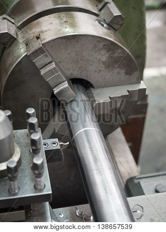 Turning Part By Manual Lathe Machine