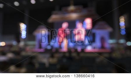 People In Conference Exhibition Hall - Blur For Use As Background