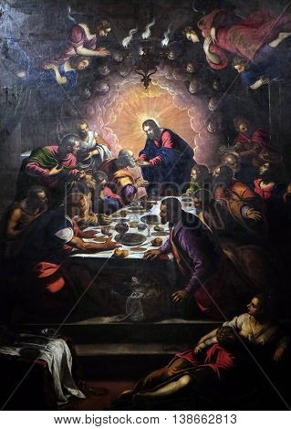 the last supper by tintoretto analysis Leonardo da vinci's the last supper and jacopo tintoretto's last supper are both paintings of jesus's final meal that he shared with his apostles before being crucified even though both paintings are of the same event.