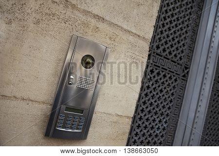 Intercom On A Facade