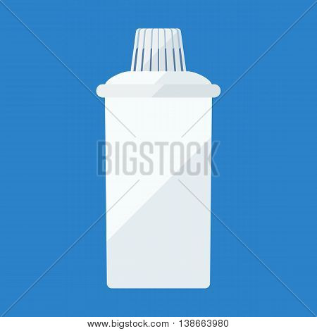 Filter cartridge flat icon for water purifying jar