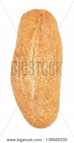wholegrain white bread isolated on white background