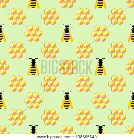 Seamless Vector Pattern With Wasps