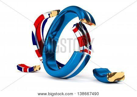 Broken Wedding Rings Symbolize The Brexit