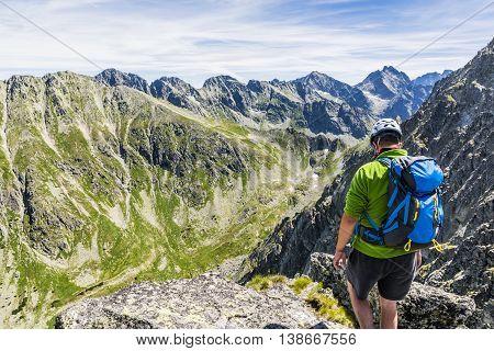 Mountaineer And Mountain Views.