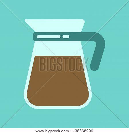 flat icon on stylish background coffee machine maker