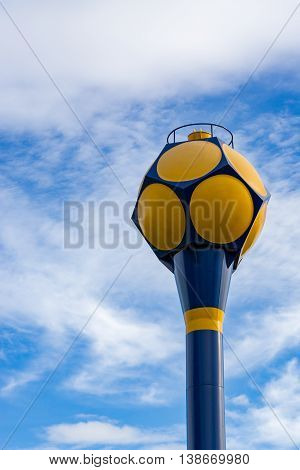water supply tank  with blue sky background