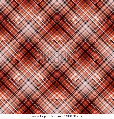 Checkered seamless pattern of red and burgundy. Cowboy ornament. Abstract symmetrical background. Vector eps10