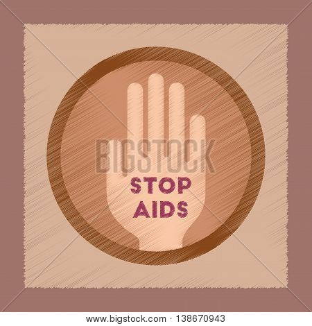 flat shading style icon gays Stop AIDS symbol