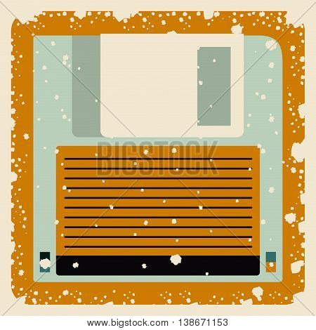 old floppy poster isolated icon design, vector illustration  graphic