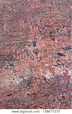 Texture of the treated brown and black granite