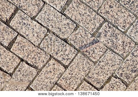 Texture of the treated brown granite tiles