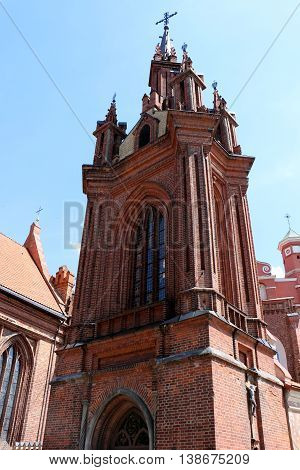 the legendary church of St. Anne, which is from the XIV century decorates the streets of Vilnius Old Town