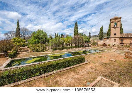 Citadel of Alhambra de Granada, a World Heritage Site in Andalusia, Spain.