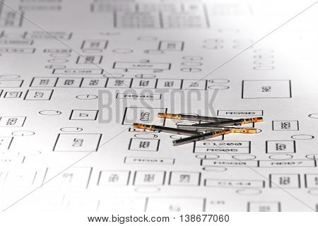 electronic and avionics female connector pins on electronic layout
