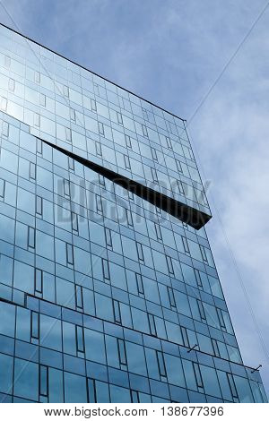 Part Glass Building In Blue Sky