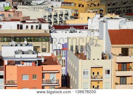 Colorful city Los Llanos on Canary Island La Palma