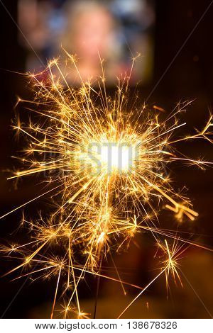 Celebrating new year with a Xmas Sparkler