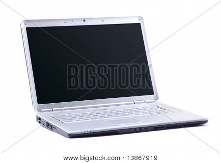 Modern laptop isolated on white