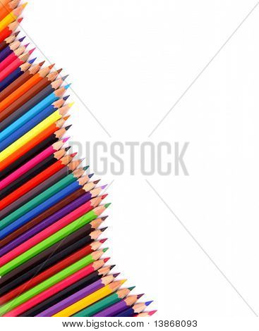 color pencil isolated on white