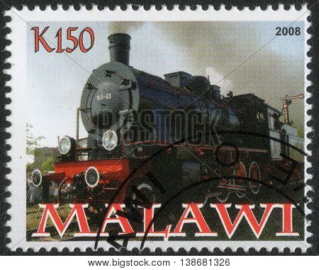 MALAWI - CIRCA 2008: A post stamp printed in Malawi shows a series of images