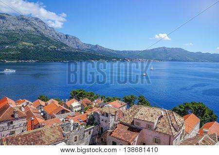 Korcula Island In Croatia, Europe. Summer Destination