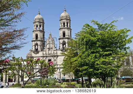 The beautiful Basilica de Zapopan Jalisco Mexico