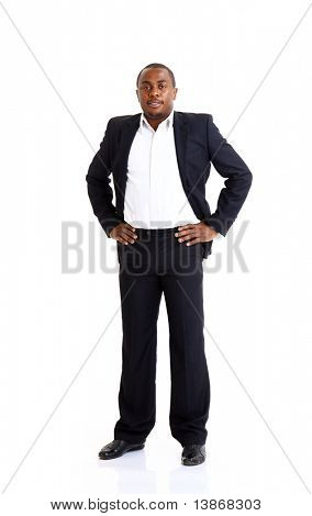 Closeup portrait of a successful African American business man