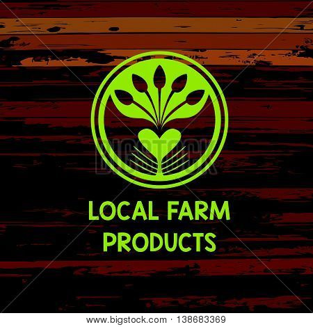 Vector Logo Local Farm Products.