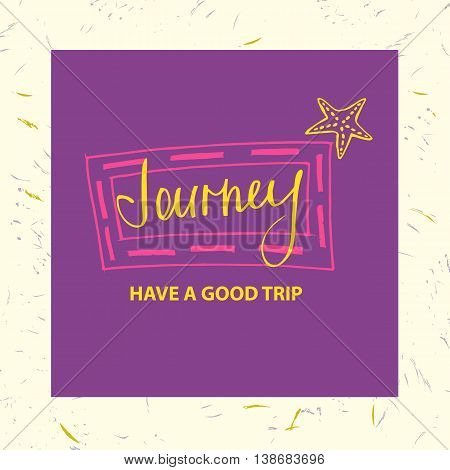 Design Logotype Of Cruise Travel And Spa. Journey Have A Good Tr