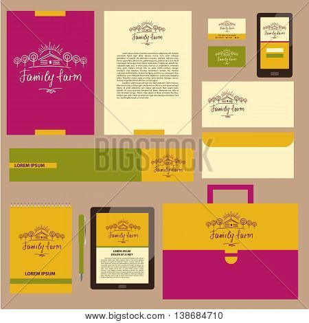 Family Farm. Corporate Identity For Agriculture, Horticulture. H