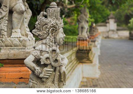 Statue in Tirta Empul Temple, Bali, Indonesia