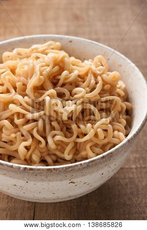 Ramen noodles in a traditional Japanese ceramic bowl