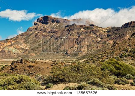 Landscape of Teide National Park, Tenerife, Canary Island, Spain