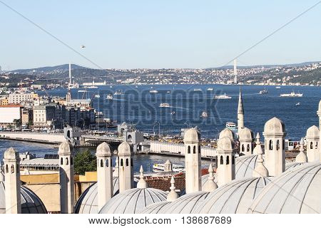Bosphorus Strait In Istanbul City