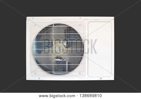Air Conditioning Compressor Isolated On Dark Background
