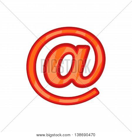 Sign e-mail icon in cartoon style isolated on white background. Send letters symbol