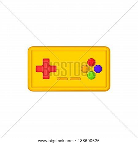 Joystick icon in cartoon style isolated on white background. Game symbol