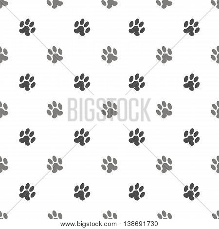 Seamless Cat Animal Paw Pattern. Print of Paw Background