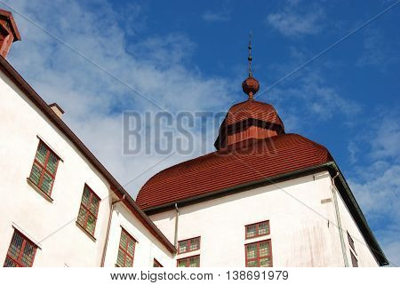 Roof top at Lacko castle, historic castle in Sweden built in the 17th century