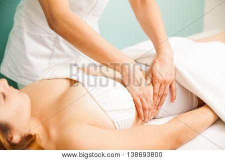 Deep Tissue Massage At A Spa