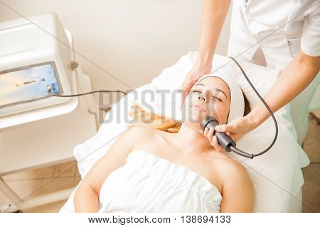 Facial Rejuvenation Therapy At A Beauty Spa