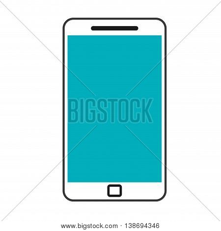 smartphone digital icon touchscreen phone illustration vector