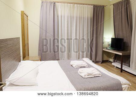 interior bedroom in the hotel