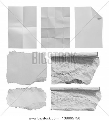 Piece of torn paper background. Copy space