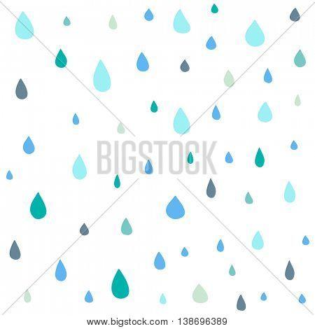 Cute drop vector seamless pattern