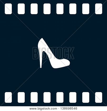 Elegant High Heel Shoe Vector Icon