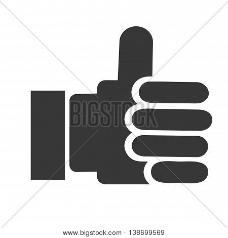 thumb up, hand with finger up vector