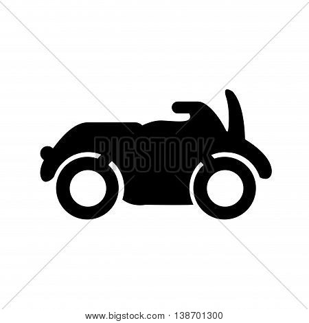 motorcycle silhouette icon transport travel vector illustration