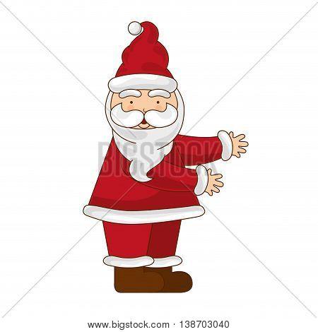 santa merry chrismas icon illustration design vector